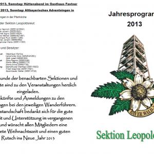 Jahresprogramm 2013