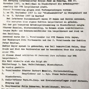Gründungsprotokoll vom 25.11.1967